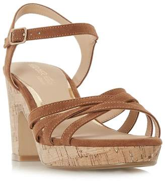 024fe37cce3 Head over Heels Head Over Heels by Dune - Tan  Jaclyn  Mid Platform Ankle  Strap Sandals