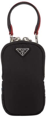 Prada Saffiano Triangle Mini Bag w/ Top Handle