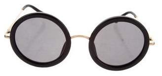 Linda Farrow The Row x Round Tinted Sunglasses