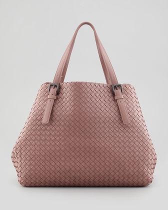 Bottega Veneta Large Double-Strap A-Shape Tote Bag, Mauve
