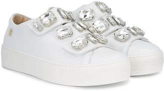Miss Blumarine crystal embellished sneakers