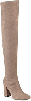 GUESS Women's Arla Over-The-Knee Block Heel Boots $139 thestylecure.com