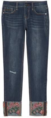 Vigoss Embroidered Cuff Jeans