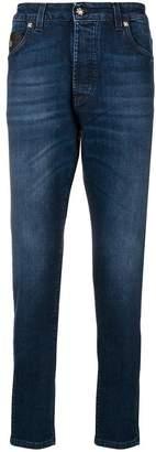 John Richmond boyfriend skinny logo jeans