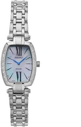 Seiko Women's Tressia Diamond Stainless Steel Solar Watch - SUP283