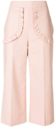 RED Valentino studded patch cropped trousers