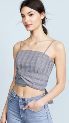 re:named Check Crop Top