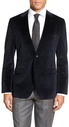 HUGO BOSS Jewels Two Button Notch Lapel Trim Fit Velvet Dinner Jacket $545 thestylecure.com