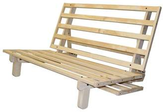 Comfort Style Lounger All Wood Sit, Lounge, or Sleep Futon Frame, Queen-size