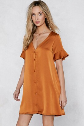 Nasty Gal Easy Street Satin Dress