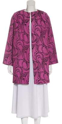Alexis Embroidered Open Front Coat