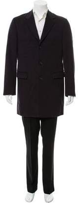 Calvin Klein Collection Wool Blend Lined Overcoat