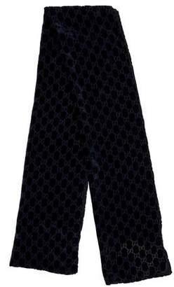 Gucci Silk-Blend Guccissima Scarf