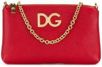 Dolce & Gabbana logo chain clutch
