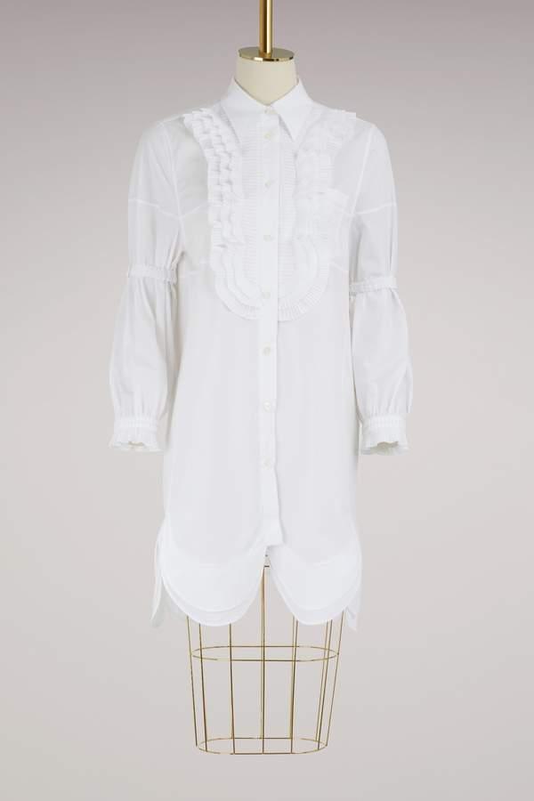 Prada Long sleeves poplin shirt-dress