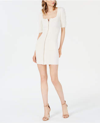 GUESS Alison Ribbed Zipper-Front Dress