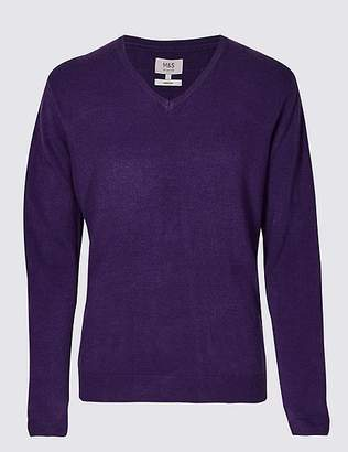 Marks and Spencer CashmilonTM V-Neck Jumper