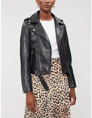 Maje Celix lambskin leather biker jacket