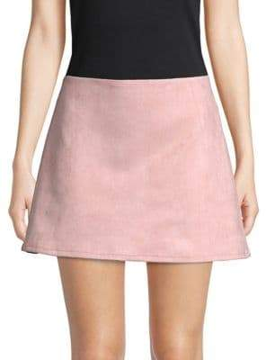 French Connection Classic Faux Suede Mini Skirt