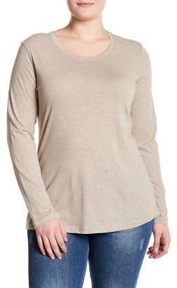 Susina Long Sleeve Cotton Layering Tee (Plus Size)