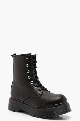 boohoo Chunky Cleated Hiker Boots