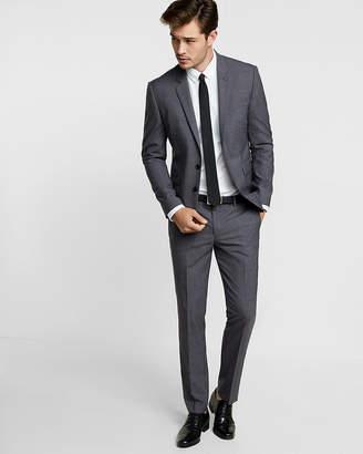Express Extra Slim Navy Plaid Wool Suit Pant