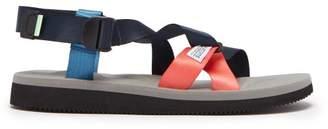 Suicoke Chin2 Cab Velcro Sandals - Mens - Blue Multi
