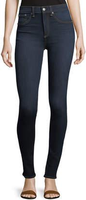 Rag & Bone High Rise Skinny Jeans, Dark Blue