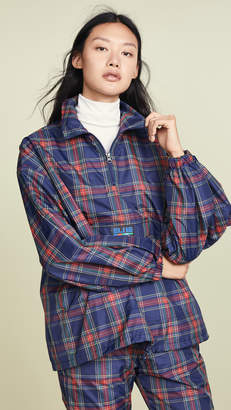 Sjyp Check Patterened Zip Up Jacket