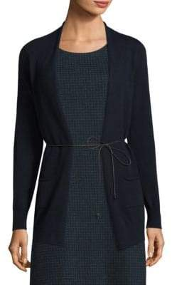 Peserico Wool, Silk & Cashmere Open-Front Cardigan