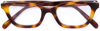 Celine tortoiseshell rectangular frame glasses