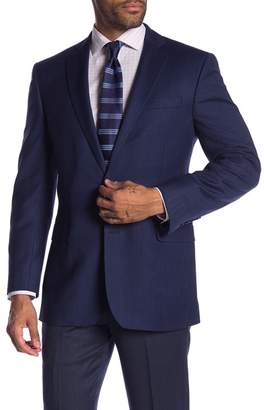 Brooks Brothers Blue Solid Two Button Notch Lapel Classic Fit Sport Coat