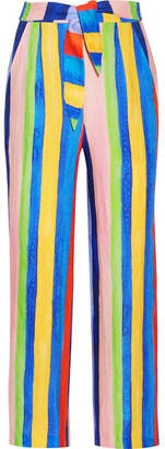 Mara Hoffman - Striped Organic Linen Wide-leg Pants - Blue $295 thestylecure.com