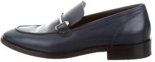 Balenciaga  Balenciaga Leather Round-Toe Loafers