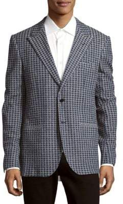 Cotton-Blend Long-Sleeve Jacket