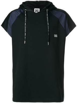 Les Hommes Urban short-sleeve hooded sweatshirt