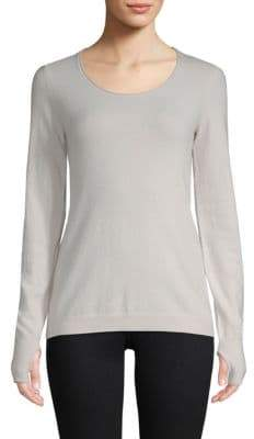 Inhabit Cashmere Blend Ribbed Pullover