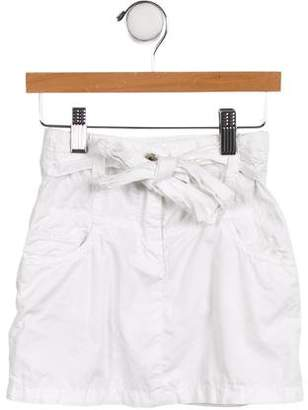 Dolce & Gabbana Girls' Embroidered Bow-Accented Skirt