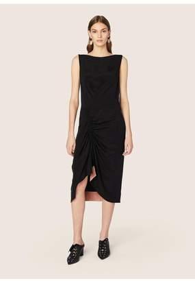 Derek Lam Sleeveless Asymmetric Ruched Dress
