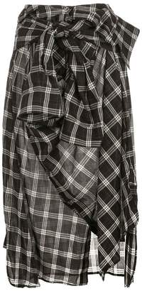Faith Connexion wrapped shirt skirt