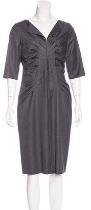 Kiton Wool Sheath Dress