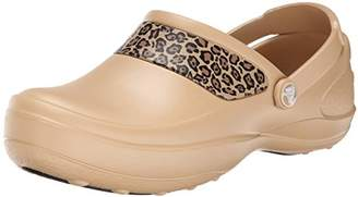 Crocs Women's Mercy Work Leopard Graphic Clog Mule