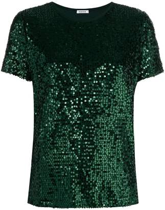 P.A.R.O.S.H. sequined short sleeve top