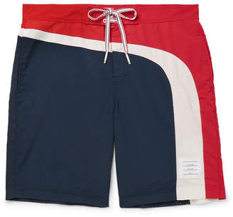 6c40e2e67fd Thom Browne Long-Length Striped Swim Shorts