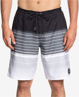 Quiksilver Men's Swell Vision Colorblocked Stripe Beach Shorts