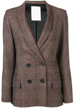 Pinko plaid double breasted jacket