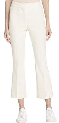 Theory Womens Erstina Flat Front Textured Ankle Pants