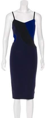 Victoria Beckham Colorblock Midi Dress