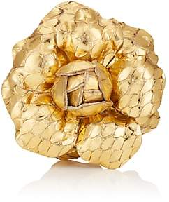 Gardenia Fleur'd Men's Lapel Flower - Gold