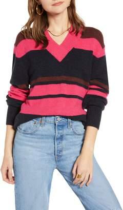 Treasure & Bond Cozy V-Neck Sweater